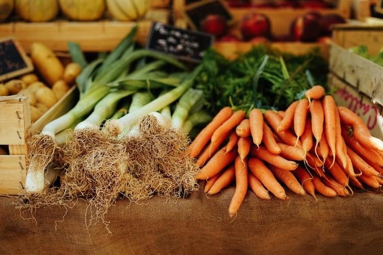 Bottes de légumes pour un banquet locavore