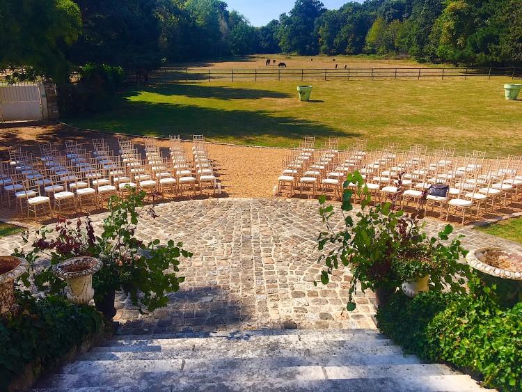 Organisation d'un Séminaire sur la terrasse du parc du Château de Vaugrigneuse