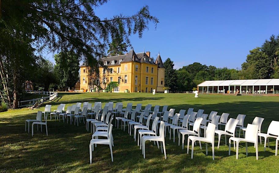 Château de Vaugrigneuse - Cérémonie sur les pelouses de l'étang