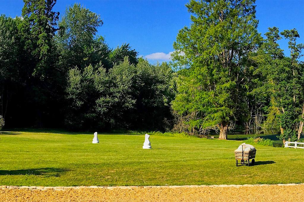 Château de Vaugrigneuse : Le Pavillon de l'étang - location pour évènements, séminaires ou réceptions.