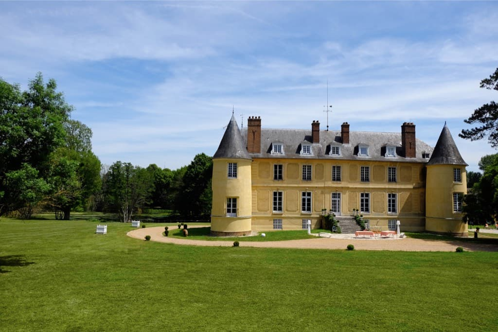 Le parc à l'arrière du château de Vaugrigneuse