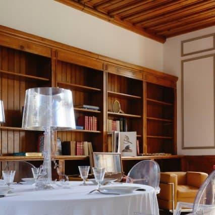 Château de Vaugrigneuse, salle de réception : bibliothèque