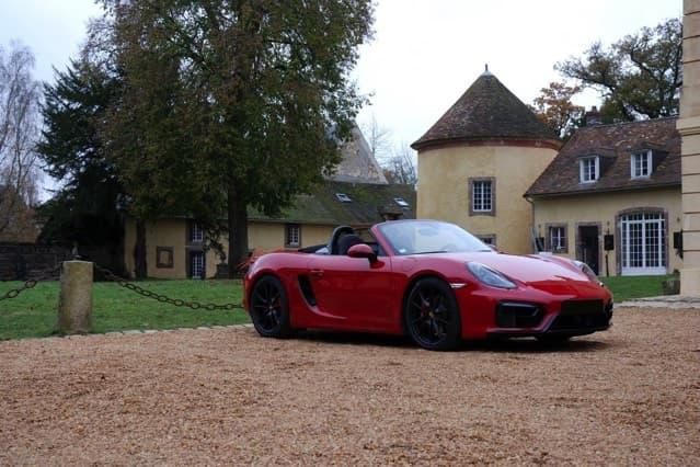 Porsche Cayman GTS au Château de Vaugrigneuse